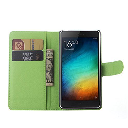 Manyip Xiaomi Mi 4C Hülle, PU Flip Leder Tasche Hülle Hülle Cover Handytasche Schutzhülle Etui Skin Für Xiaomi Mi 4C,Wallet mit Kartenfächer Design Schutz Protektiv Hülle Etui