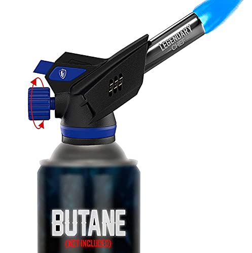 Kitchen Food Torch for Creme Brulee, Baking, Desserts and Searing- Butane Torch Lighter (Butane Gas Not Included)