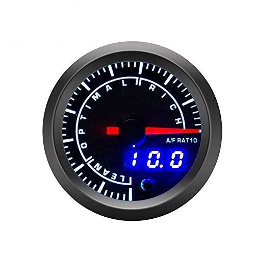 BXU-BG Tabla De Relación Aire-combustible Del Instrumento De Modificación Del Coche Pantalla Digital LED Tabla De Relación Aire-combustible Del Coche 52mm (Color : Black)