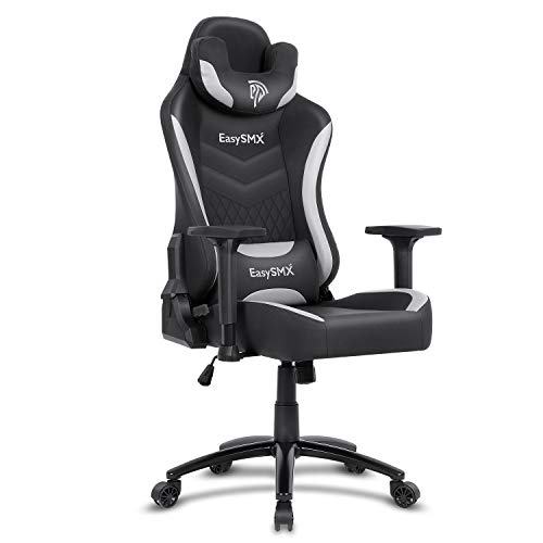 EasySMX Big and Tall Gaming Chair Racing Office Computer Game Chair Ergonomic Backrest and Seat Height Adjustment Recliner Swivel Rocker with Headrest and Waist Tilting Electronic Sports Chair 350lbs chair gaming
