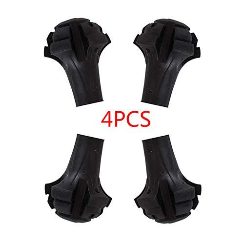 Trekkingstöcke 4PCS Ersatzfüße / -pfoten / -zwingen / -kappen für Trekkingstöcke Ersatzspitzen aus besonders strapazierfähigem Gummi - passend für alle gängigen Wanderstöcke und Nordic Walking-Stöcke