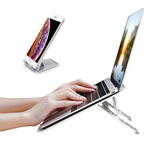 Laptopständer Kühlständer & Handy Ständer mit Anti Rutsch Basis, Heben und Falten Tischhalter zum Smartphones und Tablets