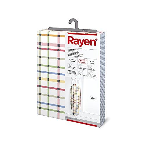 Rayen | Fodera per asse da stiro universale XXL (fodera da stiro imbottita, facile da posizionare con sistema EasyClip) | 3 strati: schiuma, pile e tessuto 100% cotone | Rayen Medium Range |