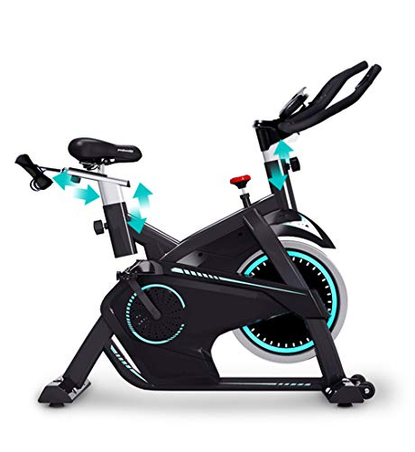 Fantastic Deal! Indoor Cycling Exercise Bike, Direct Belt Driven 13kg Flywheel Magnetic Resistance H...