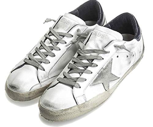 Zapatillas de deporte de las mujeres de cuero antideslizantes zapatos casuales de la parte superior baja, color, talla 37.5 EU