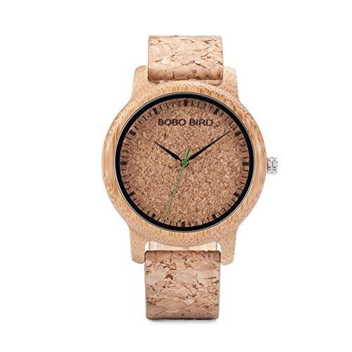GKXAZ Handgemachte Cork Strap Bambus Frauen-Uhr-Luxus in Box Accept Logo Tropfen Shippi (Color : Mens)