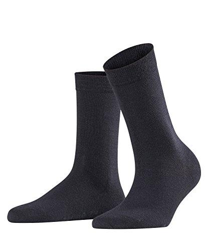 FALKE Damen Socken Softmerino, Merinowolle/Baumwollmischung, 1 Paar, Blau (Dark Navy 6379), Größe: 39-40