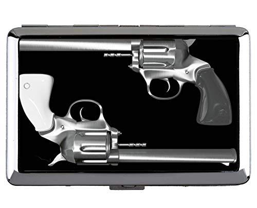 Zigarettenetui, Colt Revolver Pistole Waffe Business Credit ID Kartenhalter