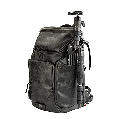 Borsa fotografica antifurto con apertura posteriore in tessuto impermeabile, dotata di speciale parapioggia e scomparto per laptop-Camouflage||23*31*47cm
