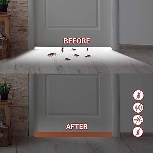 Door Sweep, Ohuhu Weather Stripping for Doors, Door Draft Stopper, Door Seal Strip, Door Insulator for Bottom of Doors Soundproof Wind Blocker, 39