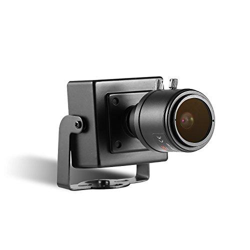 Revotech Zoom Mini Cámara IP de Seguridad, HD 3MP Cámara Interiores ONVIF 2.8-12 mm Lente de Zoom Manual P2P Cámara de Video CCTV con Vista Remota 20 fps H.265 (I712 Negro)