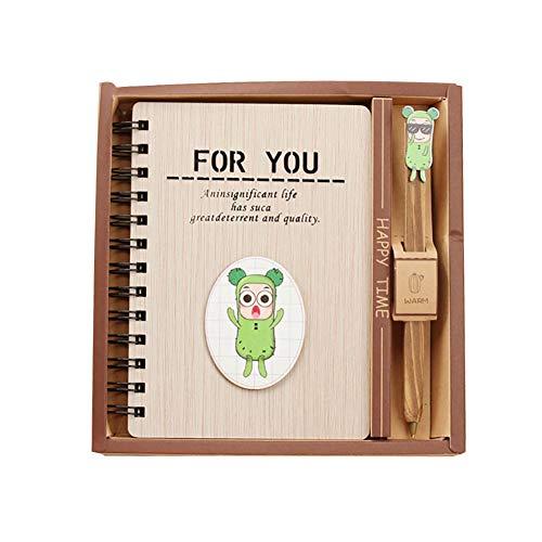Libreta cuaderno de mujer cuaderno diario de cactus cuaderno de estudiante, bloc de notas ecológico para hombre, diario con tapa rígida con bolsillo para escribir como regalo