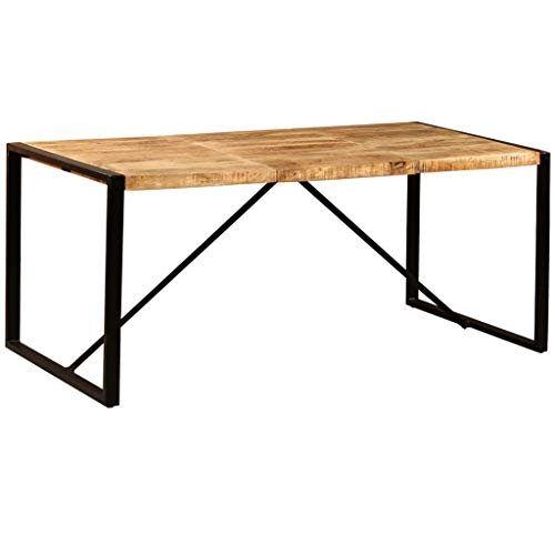 vidaXL Table de Salle à Manger Bois de Manguier Brut 180 cm Table à Manger