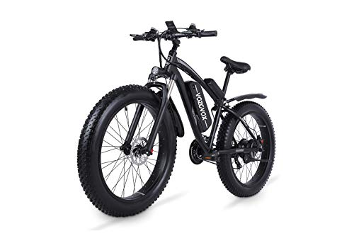 VOZCVOX MX02S Electric Mountain Bike 26 Inch Ebike 1000w with Fat Tyre,48V 17Ah Removable Battery,3.5' LCD Display,21-Speed Gear