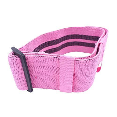 Vaugan - Fascia elastica per fianchi, cosce e gambe, cinghia regolabile, esercizio per gambe e glutei, per casa, fitness, yoga, Rosa