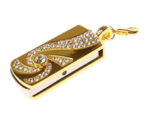 Diamante Oro 8 GB - Diamond Gold Glitter - Chiavetta Pendrive - Memoria Archiviazione dei Dati - USB Flash Pen Drive Memory Stick