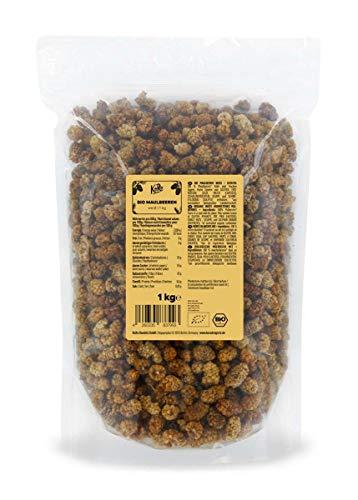 KoRo - Bio Maulbeeren Getrocknet 1 kg - Ungeschwefelte und ungezuckerte Trockenfrüchte in der Vorteilspackung