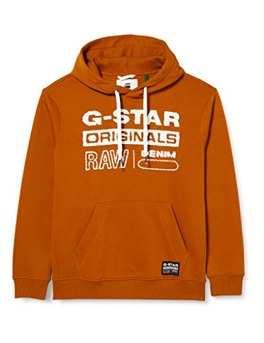 G-STAR RAW Herren Cardigan Sweater Originals Hooded, Cinnamon Orange A971-B727, X-Large