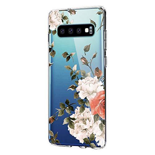 Kompatibel mit Samsung Galaxy S10 Plus Hülle,Galaxy S10 Plus Handyhülle Transparent Silikon Painted Muster Weich Silikon Ultra Dünn, Kratzfest und Wasserdicht SchutzHülle für Galaxy S10 Plus (1)