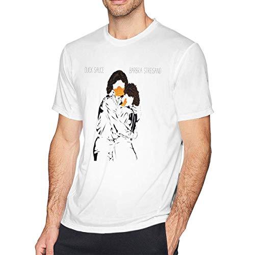 YGYP XZShop Duck Sauce Barbra Streisand Comfort Camiseta de Manga Corta para Hombre Blanca para el hogar