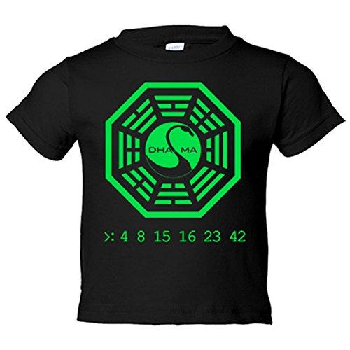 Camiseta niño ilustración 4 8 15 16 23 42 Dharma números -...