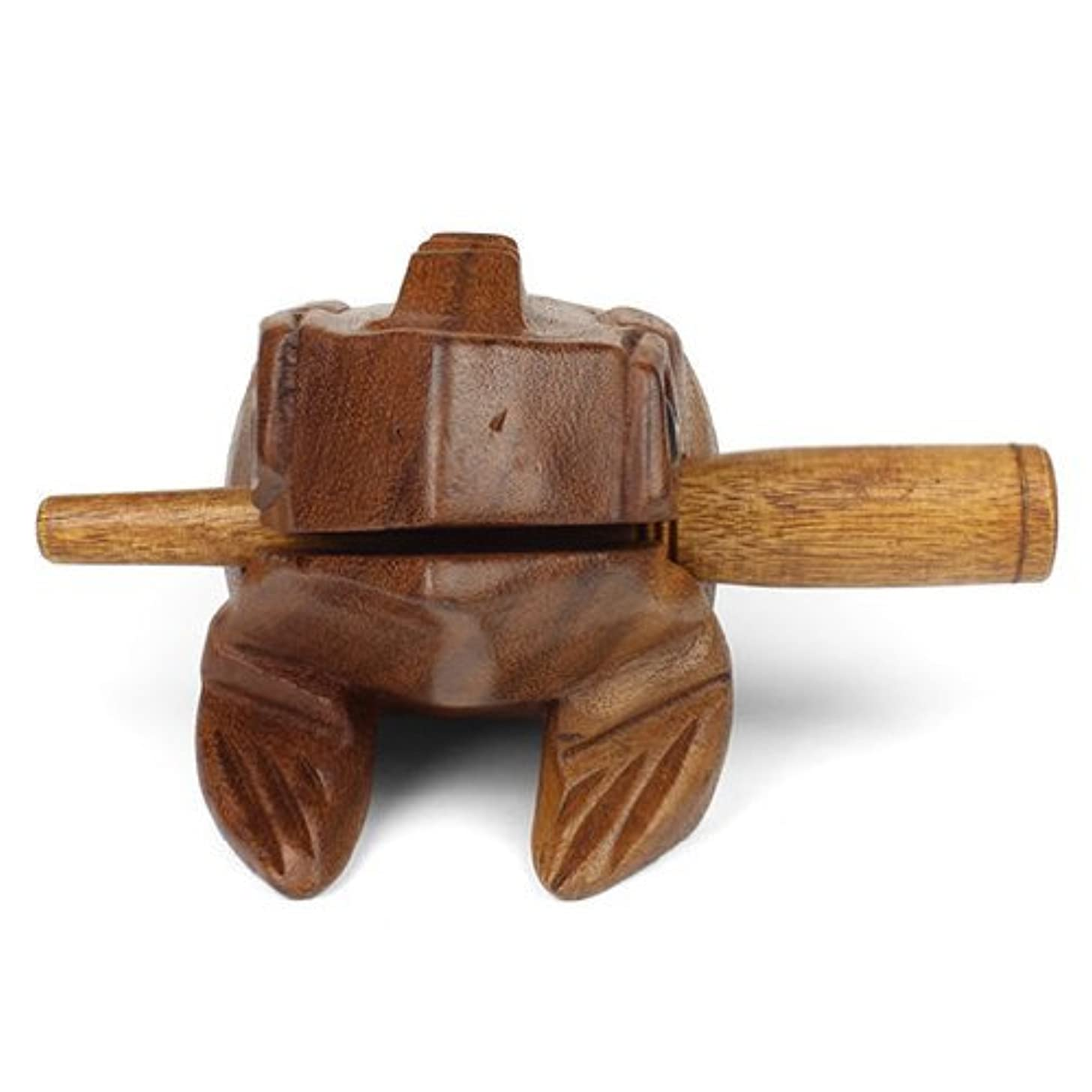 Medium Wooden Croaking Frog Güiro - Fair Trade Percussion Instrument - Fun for all Ages - Free Postage!