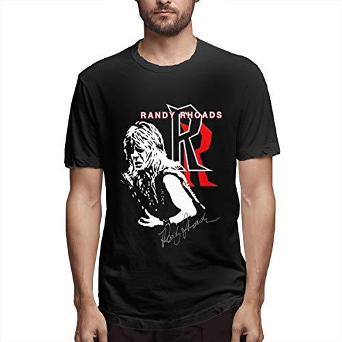 Qudforit Randy Rhoads in The Show T-Shirt for Men Short Sleeve Tee Black