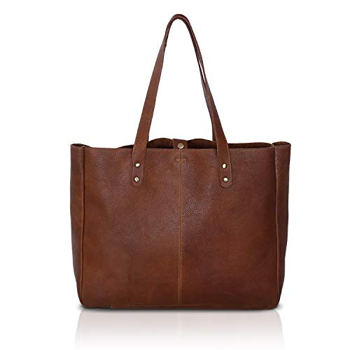 KomalC Genuine Soft Chicago Buff Leather Tote Bag Elegant Shopper Shoulder BagSALE (Elegance)