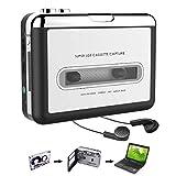 Convertidor USB de Cinta Audio Cassette a MP3 portátil Walkman con audífonos