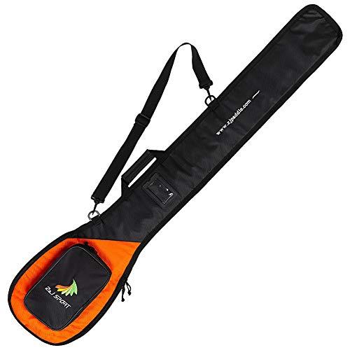 Z&J SPORT Outrigger Kanu Paddeltasche, Paddelabdeckung mit Mehreren Taschen Verstellbarer Schultergurt und Tragegriff, 1-2 OC Paddelblätter erhältlich