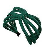 Tincocen Mujer Giro Diadema Lazo Nudo Cruzado Corbata Paño Pañuelo Cabeza Diadema Aro Diadema Diadema Set Accesorios para Pelo - Verde