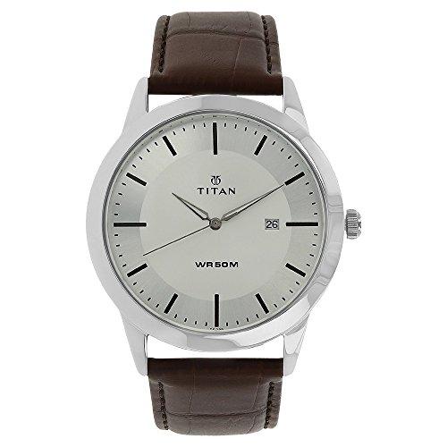 Titan Analog Silver Dial Men's Watch-NL1584SL03