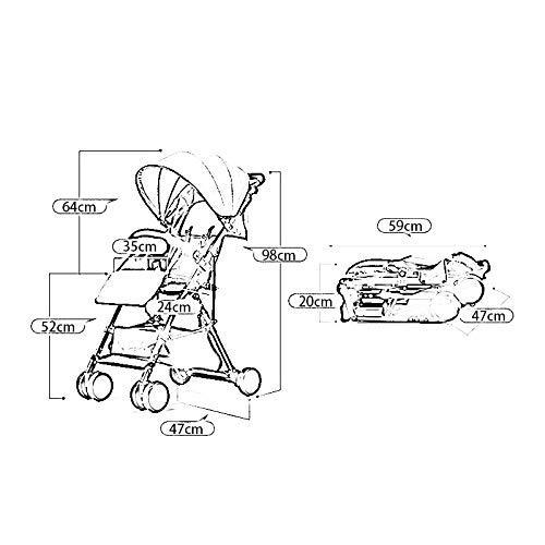 MU Bequeme Kinderwagen Kinderwagen/Kinderwagen/Off-Road-Zubehör, von Geburt an Faltbare Wickeltasche für Babys Kann in zwei Richtungen zusammenklappbar sitzen Vierrad-Hochlandkinder,ROSA