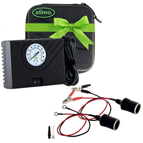 Slime 40061 Power Sport Tire Inflator, Perfect for Motorcycles, ATVs/UTVs, Off-Road Vehicles and Compact Cars