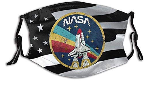 Limitied Edition 2020 NASA-Face Mask Balaclava, Washable&Reusable with 2 Pcs Filters,for Adult Women Men&Teens-NASA Space Us Flag 9-1 PCS