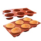 XLAHD Paquete de 2 moldes para Muffins, Bandeja para Muffins de Silicona/Silicona, Estuches para Cupcakes, moldes, Material Creativo, para Bollos o Cupcakes, 2 Piezas