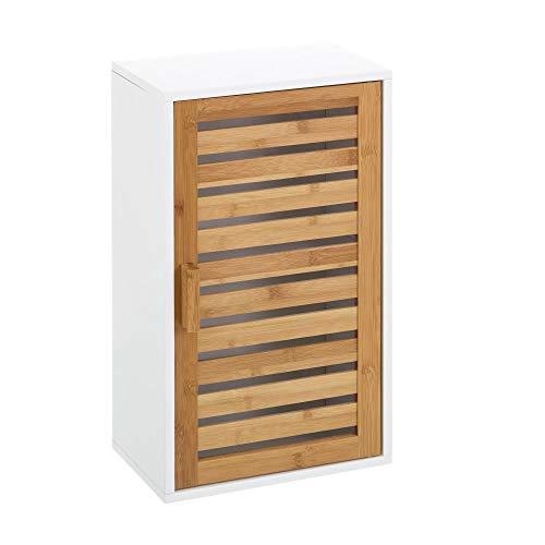 Armario de baño de Pared Blanco nórdico de bambú de 53x30x18 cm - LOLAhome