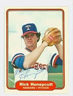 Rick Honeycutt AUTOGRAPH 1982 Fleer #318 Texas Rangers