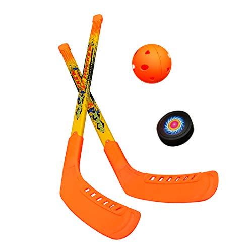 Face to Face Großes Hockeyspielzeug Kinder Spielzeug Sport Hockey-Set für Kinder 3 5 8 Jahre Puck & Ball 2 in 1