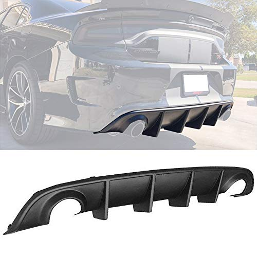 GaofeiLTF Rear Lip Bumper Diffuser Fits 2015-2019 Dodge Charger SRT Rear Body Splitter Valance PP OE Style