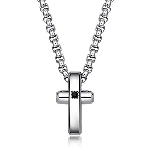 BROSWAY - Collana in acciaio con pendente croce lucido e cristallio Swarovski BROSWAY BRX09
