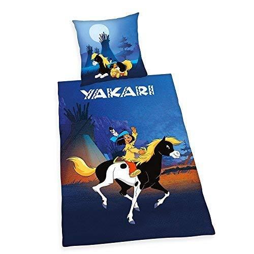 Yakari Bettwäsche Herding glatt Kleiner Donner 135 x 200 cm Geschenk NEU Wow - All-In-One-Outlet-24 -