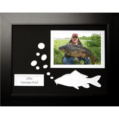 Fishing Black Photo Frame Unique Christmas Birthday Fathers Day Gift For The Fisherman