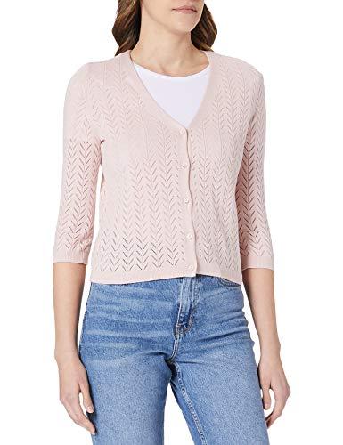 Vero Moda VMCADDIE 3/4 Button Cardigan GA Noos Suter crdigan, Sepia Rose, XL para Mujer