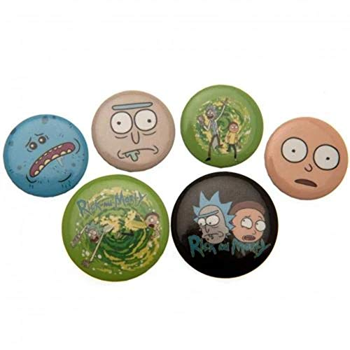 GB eye LTD, Rick and Morty, Characters, Badge Pack, Aluminum, Multi-Colour, 14 x 0.3 x 10 cm
