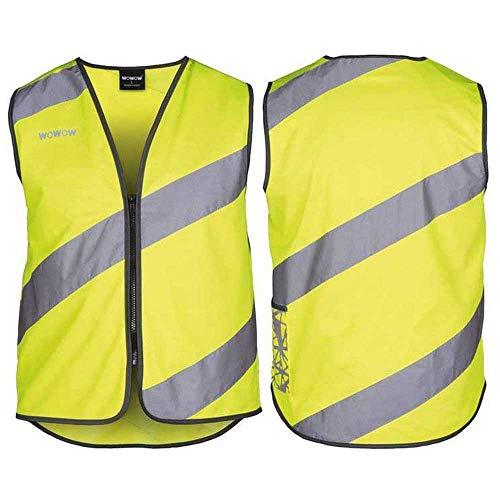 Unbekannt WOWOW Chaleco reflectante de seguridad unisex, amarillo fluorescente