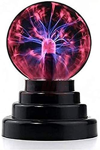 Creativa bola electrostática de plasma mágica de 3 pulgadas, sensible al tacto, esfera sensible, ligera, USB, divertida, científica, brillante y impresionante lámpara