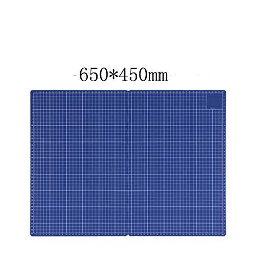 Mat de Corte de artesanía autocuración de la Estera de Corte Imperial/métrica, Doble Cara 3 Capas para acolchar, Coser, Scrapbooking, Tela (Color : Blue, tamaño : 650 * 450mm)