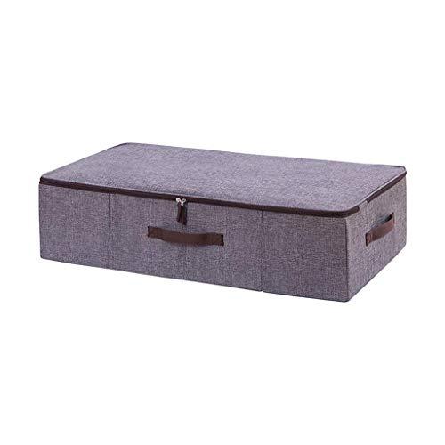 Opbergbox voor onder het bed, voor kleding, portefeuilles, schoenen, dekens - 29,5 x 15,7 x 7,1 inch (kleur: beige)