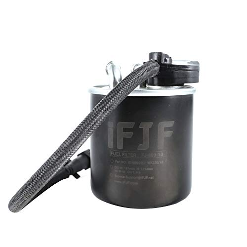 iFJF WK 820/18 Fuel Filter Replacement for Mercedes Benz 2.1L GLK200 2010-2015 C180 2010-2014 E250 2009-2015 Sprinter 3.0L 519 CDI 2009-2020 25 Micron Replaces 6510901552 6510902952